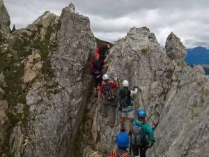 Passaggio difficile del Sentiero D' Ambros