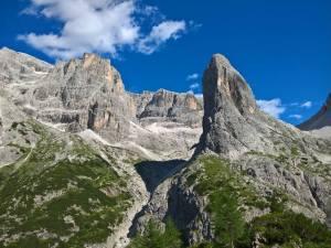 Monte Giralba Di Sopra (2950m) e davanti La Lista (2413m), Hohe Leist