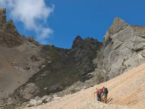 Rocce nere al Passo De Ombreta