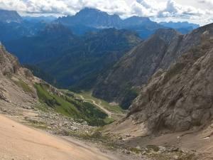 Val Ombreta vista dal Passo De Ombreta