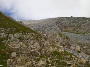 Rocce giallastre in Cima al Monte Peralba