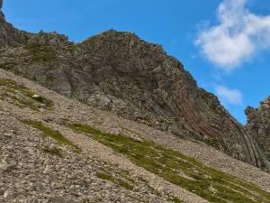 Pieghe caratteristiche della roccia dolomitica