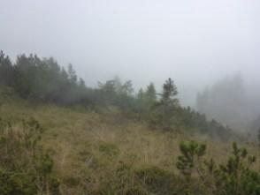 nubi basse verso la forcella