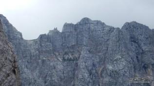 Vista sul Montasio (sella delli Sieris e Cime di Terra Rossa)