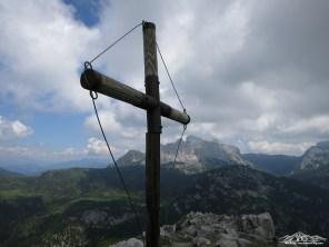 croce di vetta e Creta d'Aip