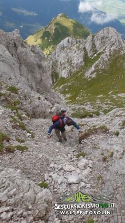 Gartnerkofel discesa in roccia