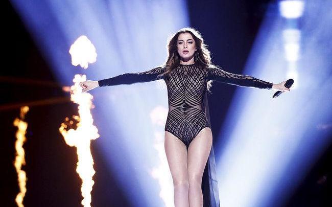 Картинки по запросу iveta mukuchyan eurovision look