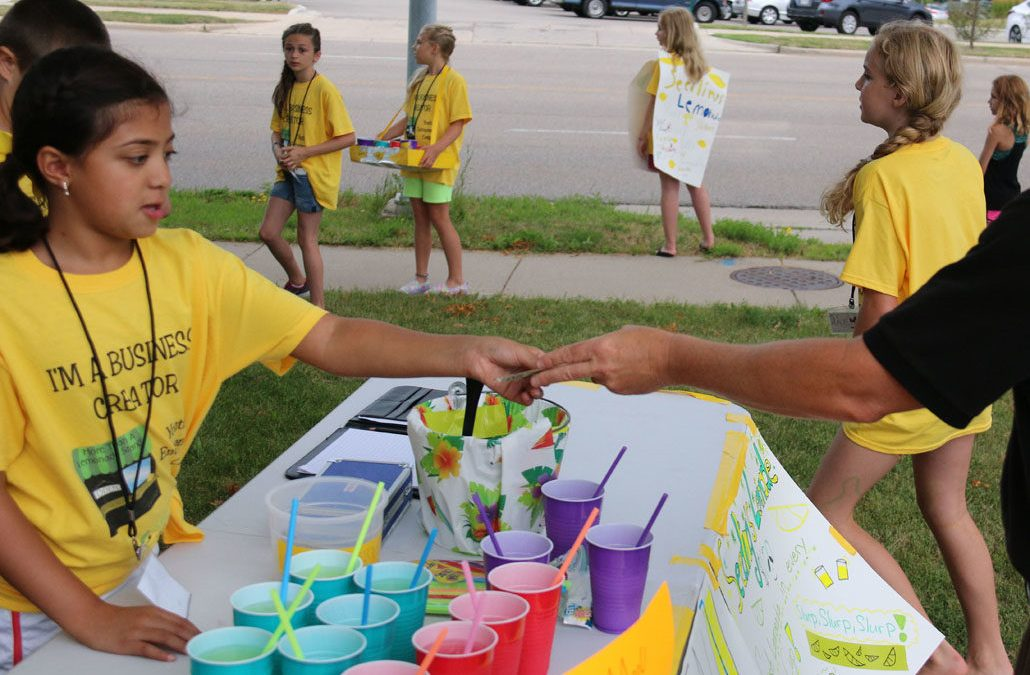 Lemonade Stand at Youth Entrepreneur camp