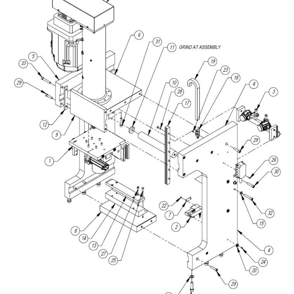 Press Frame Assembly Drawing Ese Llc Engineering Support