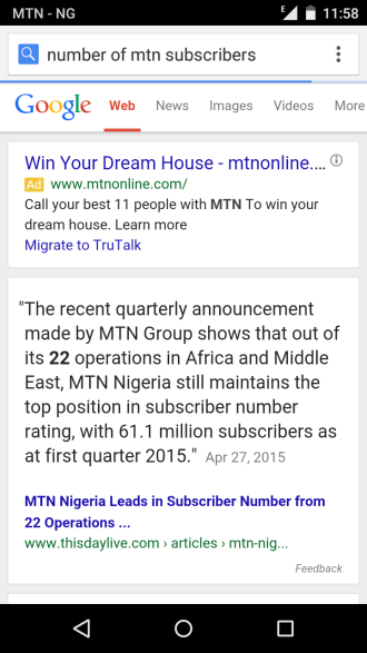 number of mtn subscribers