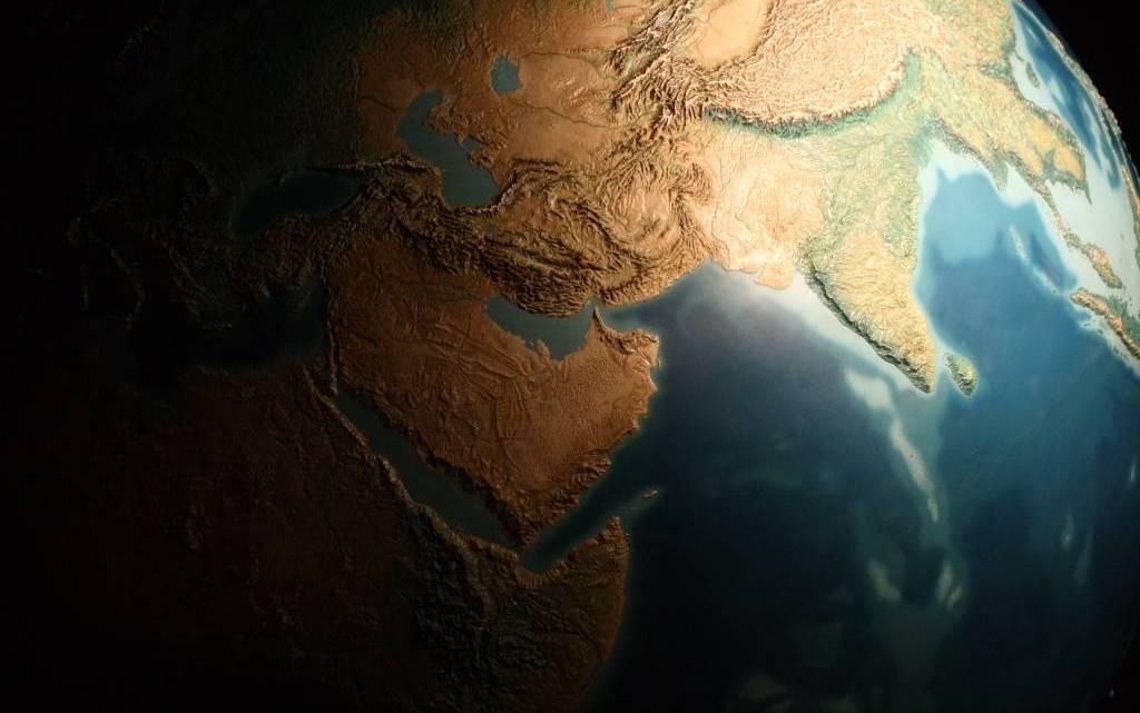 Enorme supercontinente em formação.