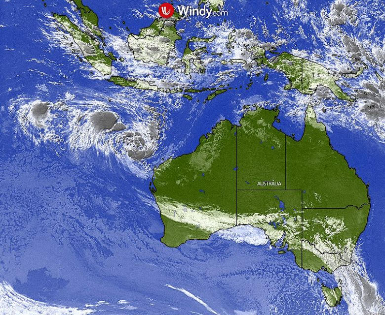Dois ciclones se encontrarão em um fenômeno raro conhecido como Efeito Fujiwhara