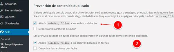 Evitar contenido duplicado en WordPress 2