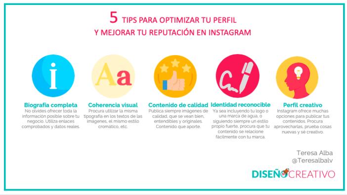 Tips para optimizar tu perfil de Instagram