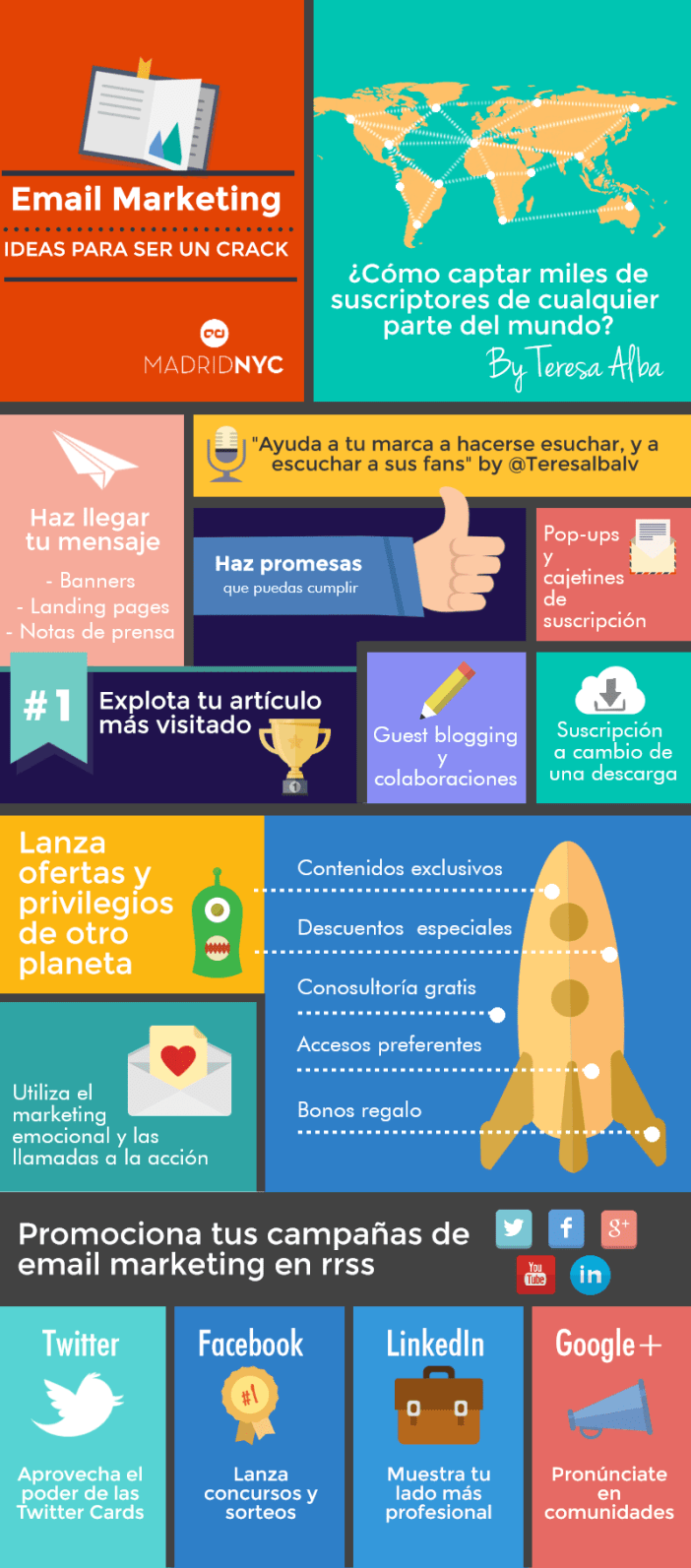 guia de email marketing para conseguir suscriptores - infografía