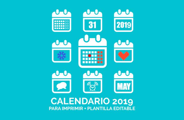 Imagen calendario de marketing 2019