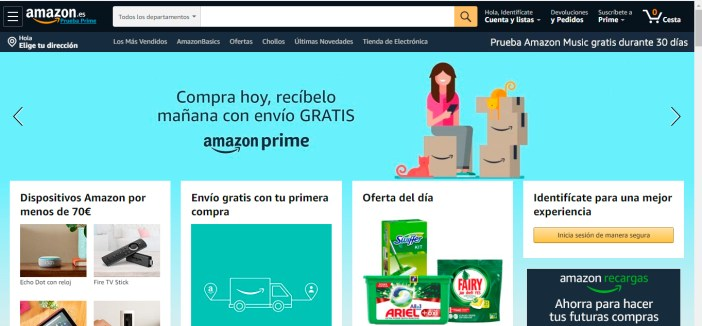 Ejemplo slider Amazon