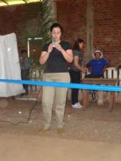 Declamação do poema pela aluna Jerusa Grolli, representando a Escola Estadual Padre José de Anchieta.