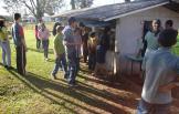 Visita ao setor da cunicultura na Escola Agrícola.
