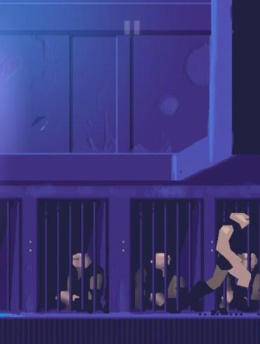 Another World iOS - Protagonista escapando corriendo de una prisión.