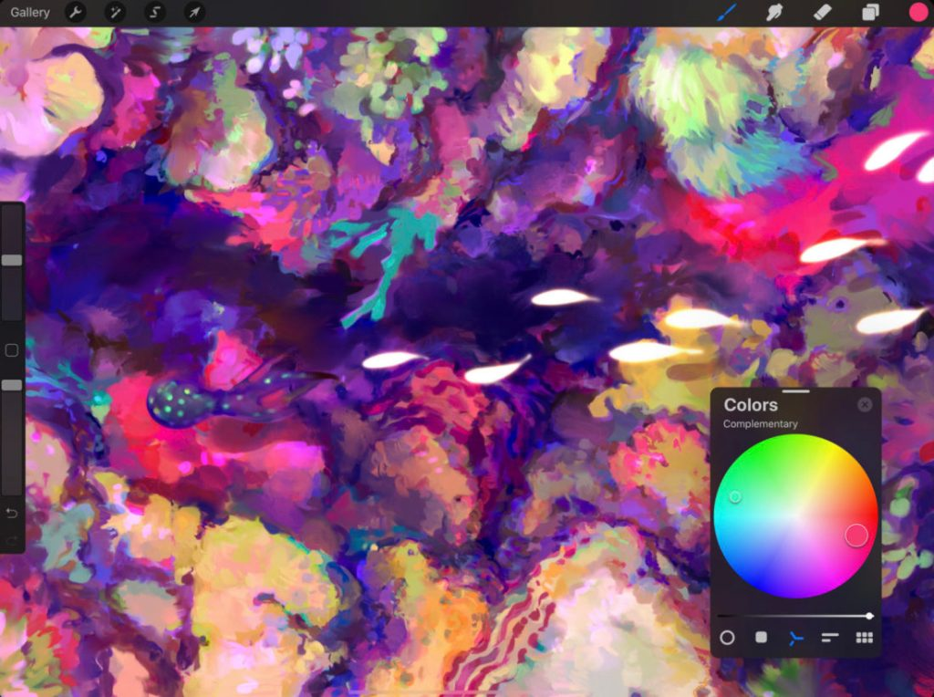 Captura de pantalla de la app Procreate 5 para iPad
