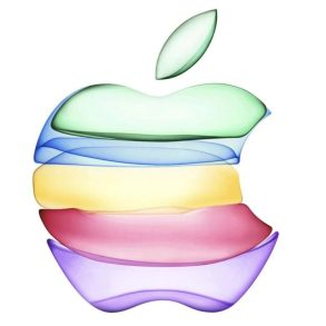 Logo Apple Manzana multicolor