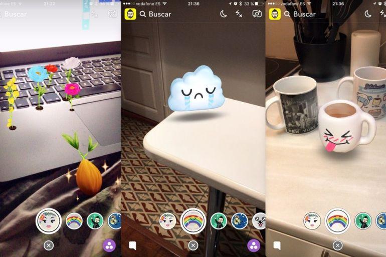 Snapchat - Filtros Lentes en 3D - World Lenses