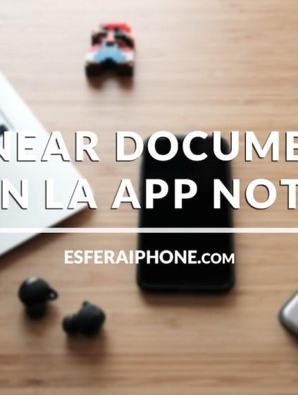 Escanear documentos iOS 11 - iPhone y iPad