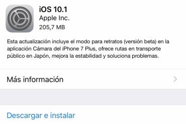 iOS 10.1