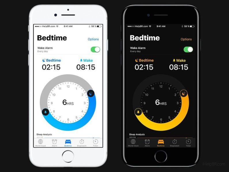 Concepto de iOS 11 - Modo oscuro