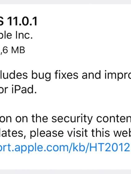 iOS 11.0.1