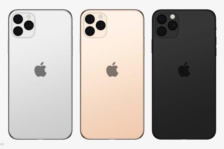 3 iPhone 11, con tres cámaras traseras.