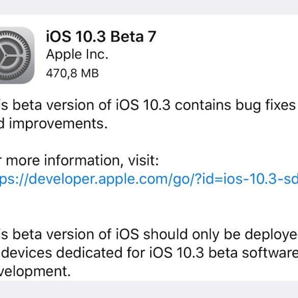 iOS 10.3 beta 7