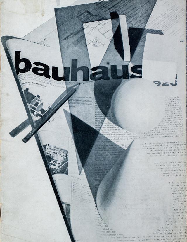 Bauhaus: zeitschrift für bau und gestaltung' 2:1, eds. Walter Gropius and László Moholy-Nagy. Dessau, Bauhaus, Feb 1928. 16 p. In German. Printed by C. Dünnhaupt, Dessau. Digitized by Baunet. (all images via Monoskop)