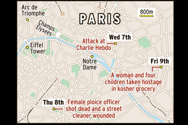 Map-showing-incidents-in-Paris-after-the-Charlie-Hebdo-shooting