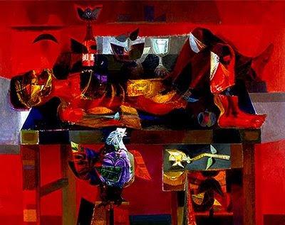 Estudiante muerto (Velorio), Alejandro Obregón. 1956