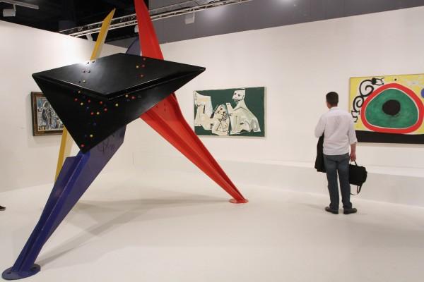 La galería Helly Nahmad es una de las más importantes entre las que acuden cada año a la feria Art Basel Miami. Getty