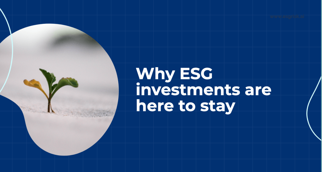 Why ESG investments are here to stay