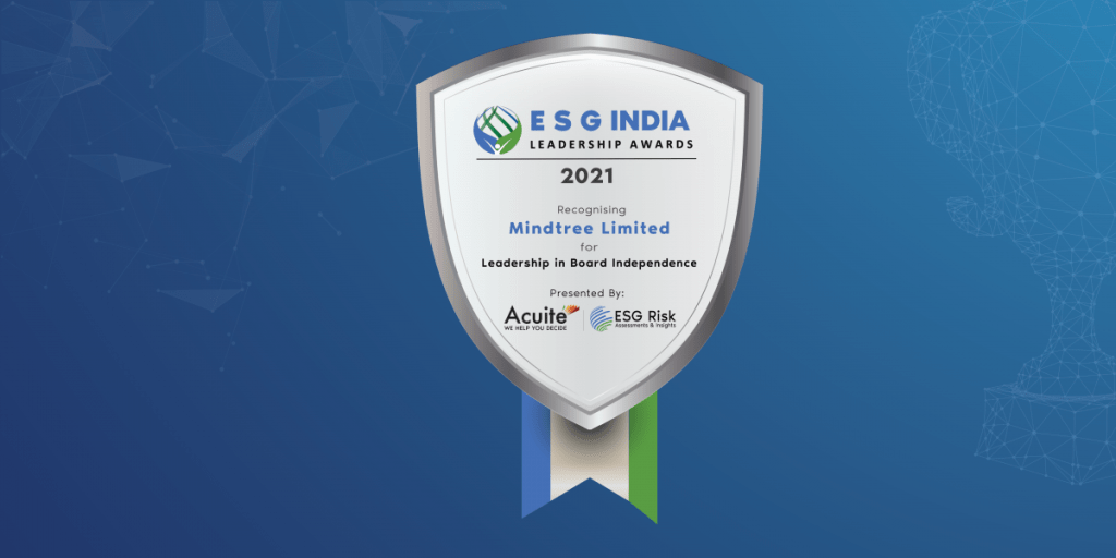 ESG India Leadership Award for Leadership in Board Independence Mindtree Limited