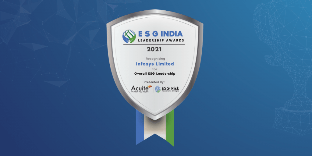 ESG India Leadership Awards for Leadership in Overall Leadership ESG: Infosys Limited