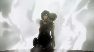 A plot twist scene from the anime Shingeki No Kyojin