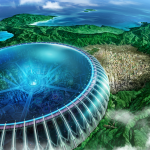 Picture of the island of Midoriijima, Japan where the anime Dramatical Murder takes place