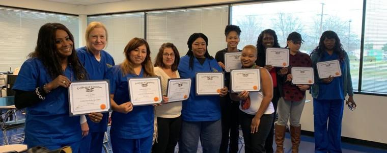 The New Year Begins with Happiness at our Agency. Congratulations to the Certified Home Health Aide Class of January 2019.