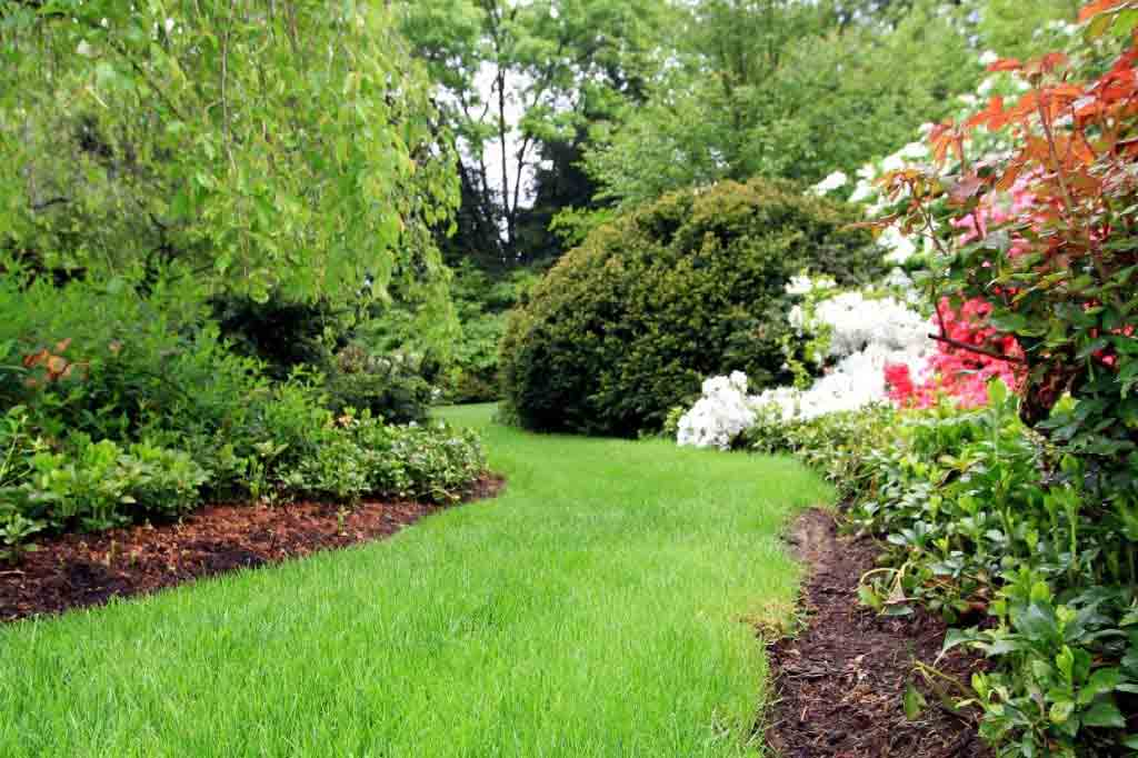 Grass Path in Lancaster, PA Eshelman Mill Gardens and Landsccapes