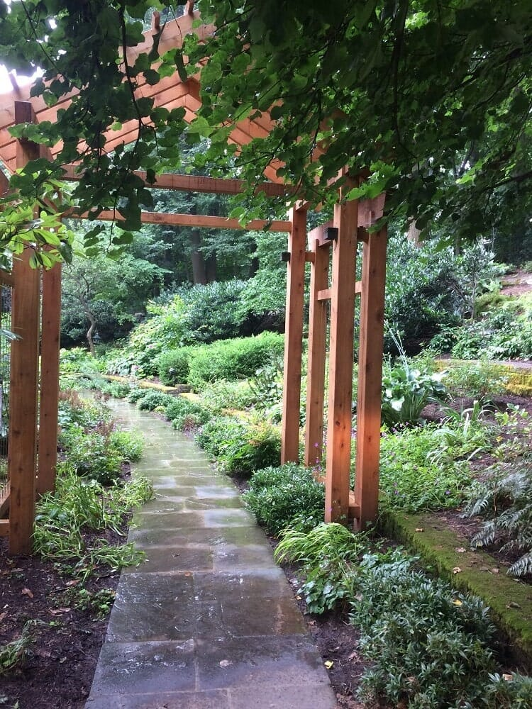 Wooden Arbor in Lancaster, PA Eshelman Mill Gardens and Landscapes