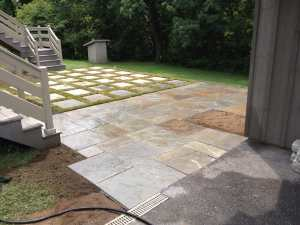 Hardscape with Grass Borders in Lancaster, PA