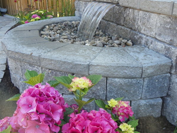 Retaining Wall Water Feature