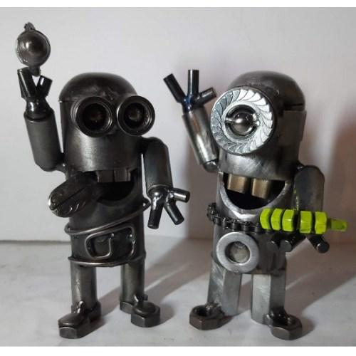scifi postavy Sochy z kovu detske mimoni