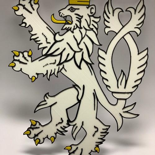 3D tisk logo firmy Ceskeprodukty