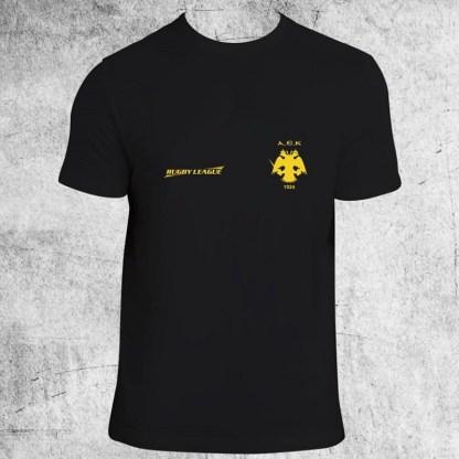 Tshirt RUGBY LEAGUE (ΜΑΥΡΟ)